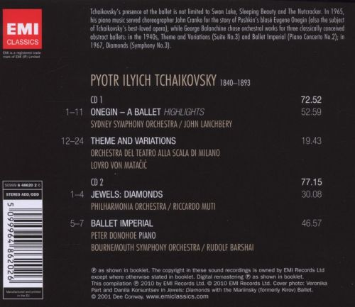 Tchaikovsky: Onegin; Theme and Variations; Ballet Imperial; Diamonds