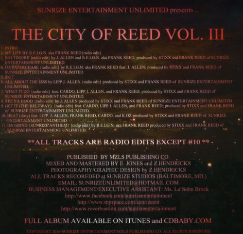 The City Of Reed, Vol. 3