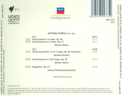 Dvorák: String Sextet, Op. 48; String Quintets, Op. 77 & 97 & Others