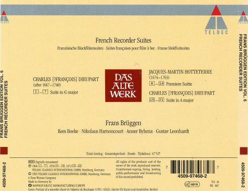 Frans Brüggen Edition, Vol. 6: French Recorder Suites