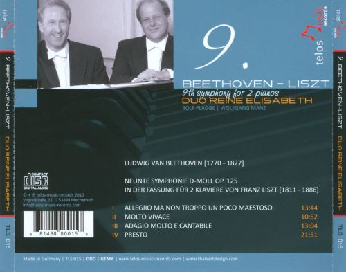 Beethoven & Liszt: 9th Symphony for 2 Pianos
