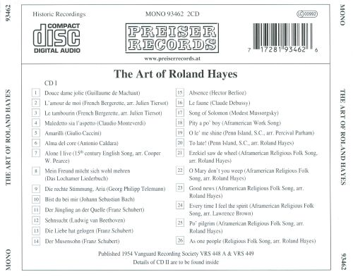 The Art of Roland Hayes
