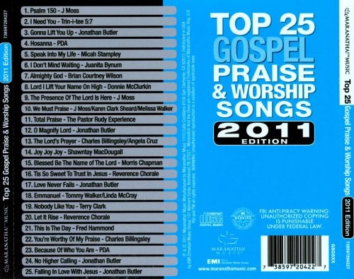 List of top praise and worship songs