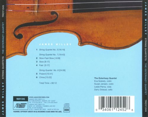 James Willey: String Quartets Nos. 3, 7 & 8