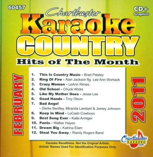 Chartbuster Karaoke: Country Hits of the Month, February 2011