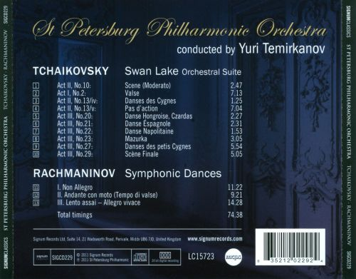 Tchaikovsky: Orchestral Suite from Swan Lake; Rachmaninov: Symphonic Dances
