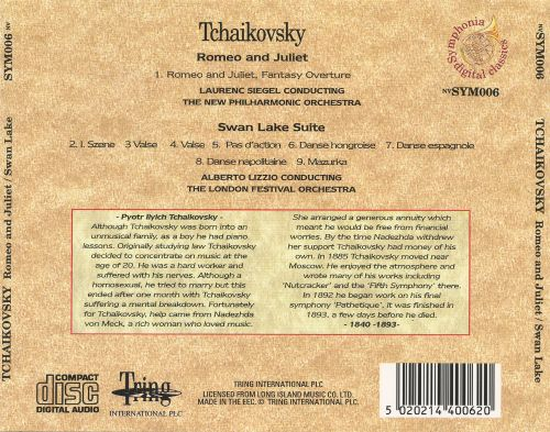 Tchaikovsky: Romeo and Juliet; Swan Lake Suite