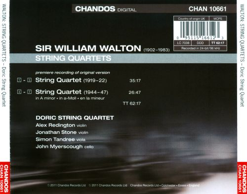 Walton: String Quartets