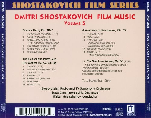 Shostakovich Film Series, Vol. 5