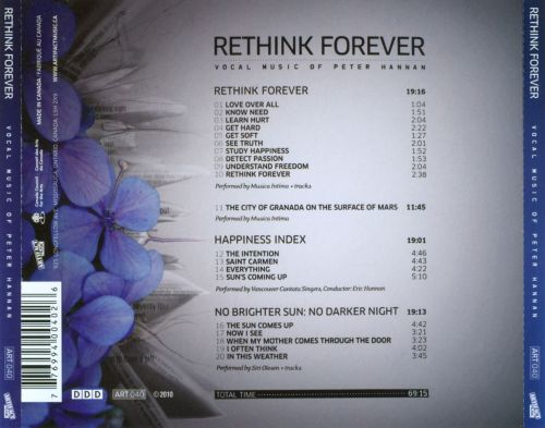 Rethink Forever: Vocal Music Of Peter Hannan
