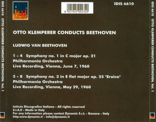 Otto Klemperer Conducts Beethoven, Vol. 1