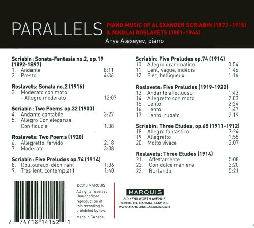 Parallels: Piano Music of Scriabin & Roslavets