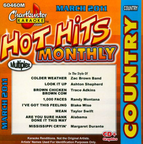 Chartbuster Karaoke: Hot Hits Country - March 2011