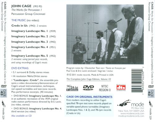 John Cage: The Works for Percussion, Vol. 1
