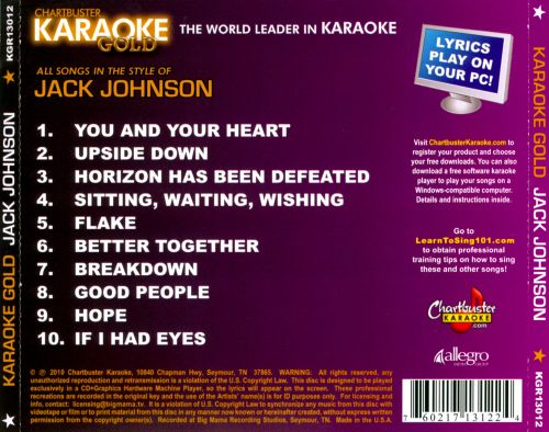 Chartbuster Karaoke Gold: In the Style of Jack Johnson