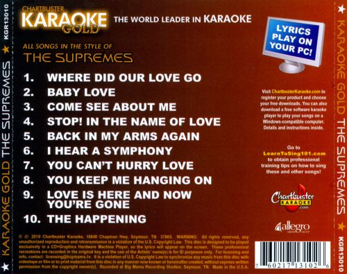 Chartbuster Karaoke Gold: In the Style of the Supremes