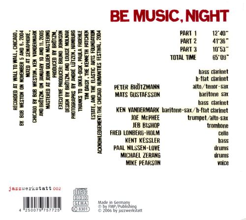Be Music, Night: A Homage to Kenneth Patchen