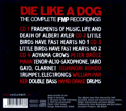 Die like a Dog: The Complete FMP Recordings