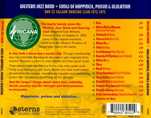 Songs of Happiness, Poison and Ululation
