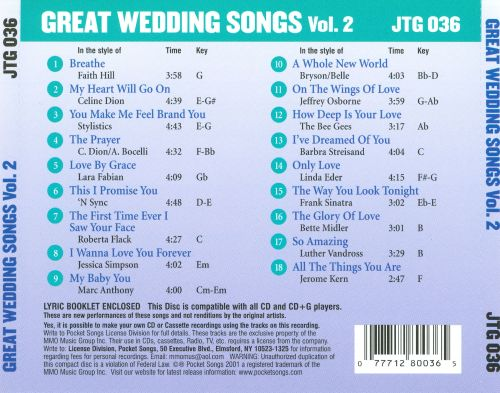 2 Karaoke Wedding Songs Vol