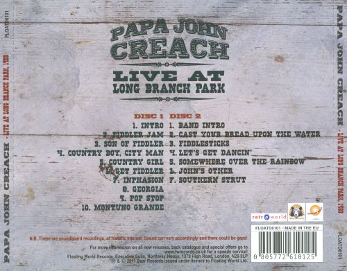 Live At Long Branch Park, 1983