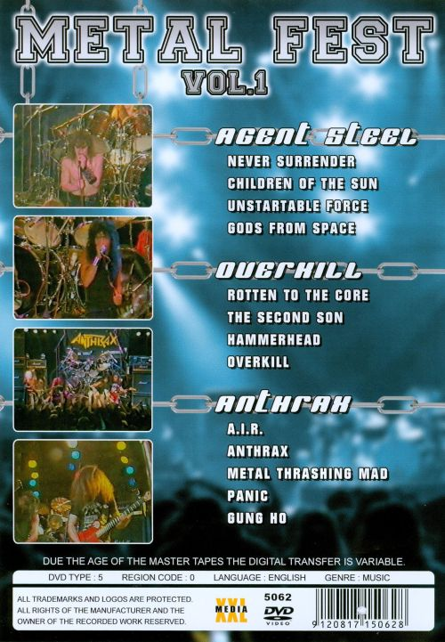 Metal Fest, Vol. 1: Live from Germany 1986 [DVD]