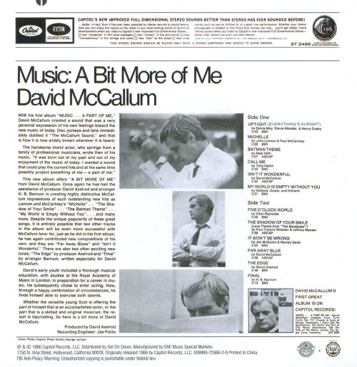 Music: A Bit More of Me