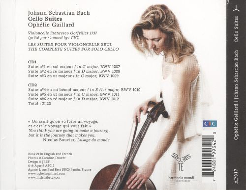Bach: Cello Suites Nos.1-6 [2010 Recording]