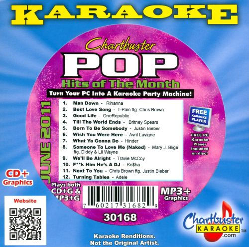 Chartbuster Karaoke: Pop Hits of the Month - June 2011