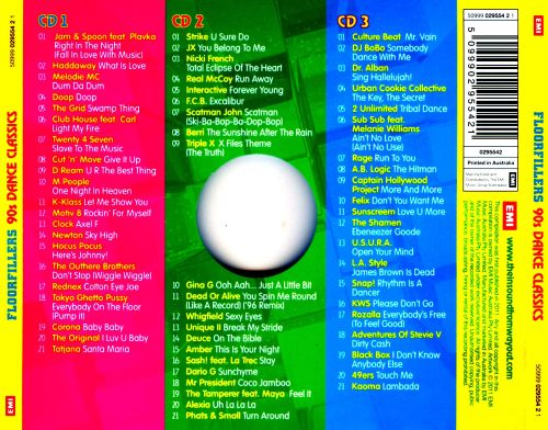 Floorfillers 90s dance classics various artists songs for Classic house hits 90 s