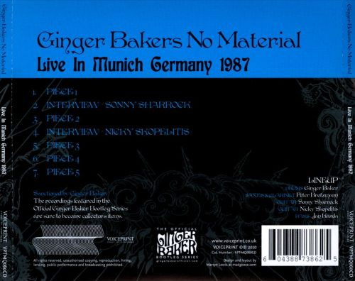 Live in Munich, Germany 1987