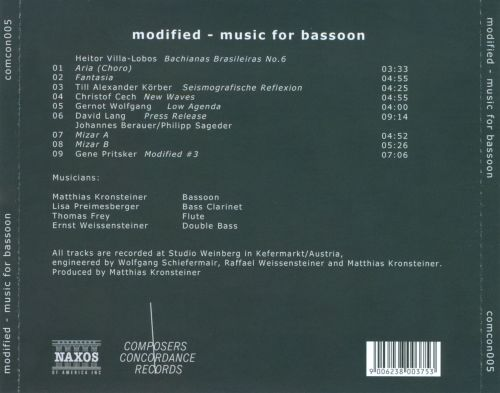 Modified: Music for Bassoon