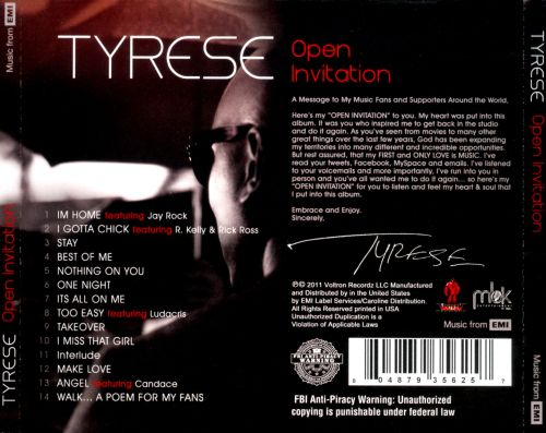 Open invitation tyrese songs reviews credits allmusic open invitation open invitation stopboris Gallery