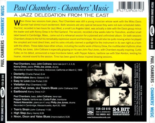 Chambers' Music: A Jazz Delegation from the East