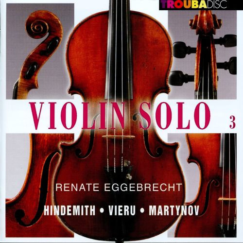 Violin Solo, Vol  3 - Renate Eggebrecht-Kupsa | Songs