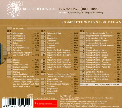 Liszt: Complete Works for Organ