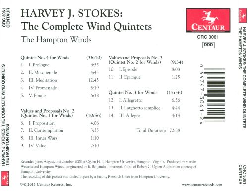 Harvey J. Stokes: The Complete Wind Quintets