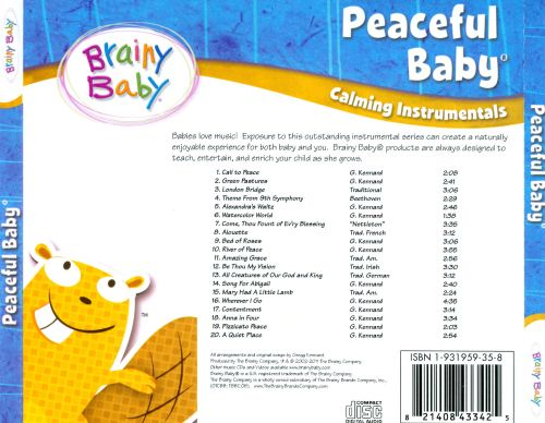 Brainy Baby Peaceful Baby Various Artists Songs