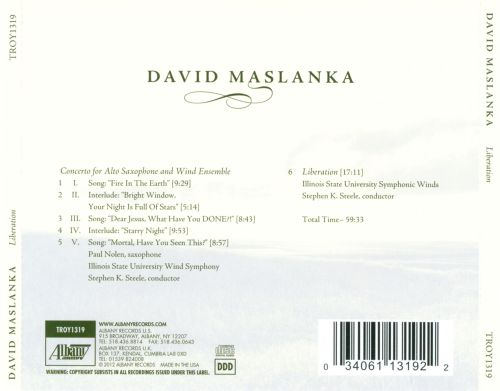 David Maslanka: Liberation