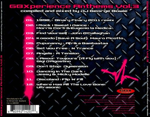 GBXperience Anthems, Vol. 3