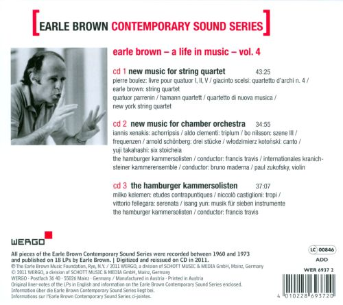 Earle Brown Contemporary Sound Series, Vol. 4