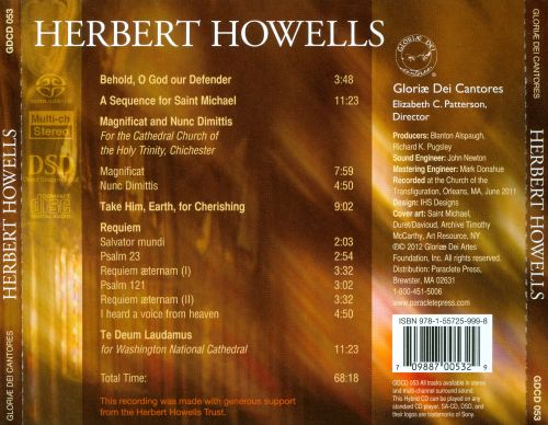 Herbert Howells: A Sequence for St. Michael; Requiem; Take Him, Earth for Cherishing
