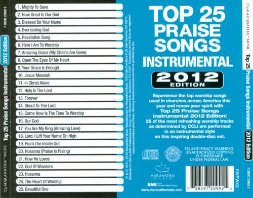 Top 25 Praise Songs Instrumental: 2012 Edition