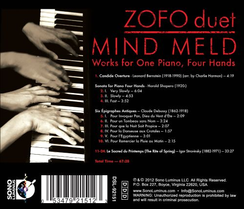 Mind Meld: Works for One Piano, Four Hands