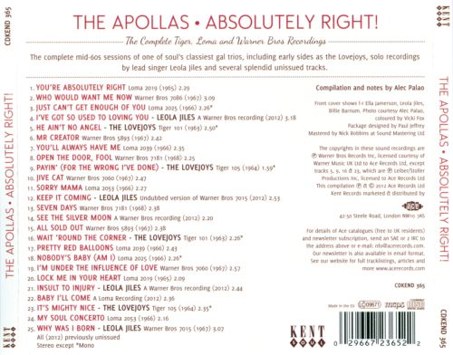 Absolutely Right!: The Complete Tiger, Loma and Warner Bros. Recordings