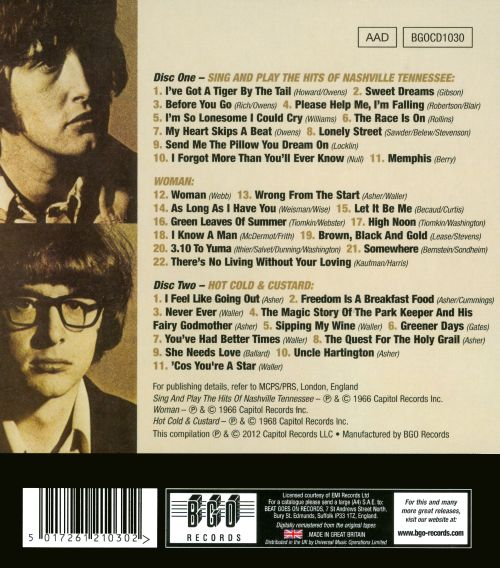Sing & Play the Hits of Nashville Tennessee/Woman/Hot Cold & Custard
