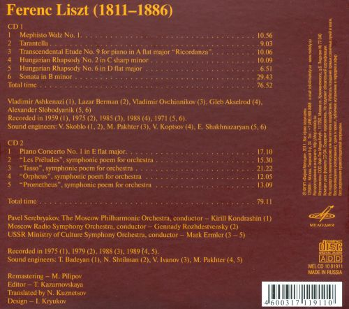 Dedicated to the 200th Anniversary of the Birth of Ferenc Liszt