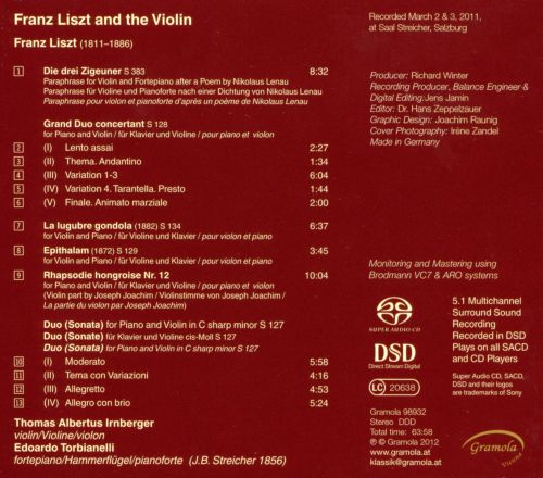 Franz Liszt and the Violin