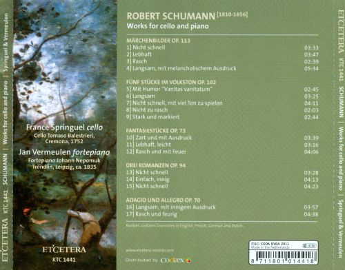 Robert Schumann: Works for Cello and Piano