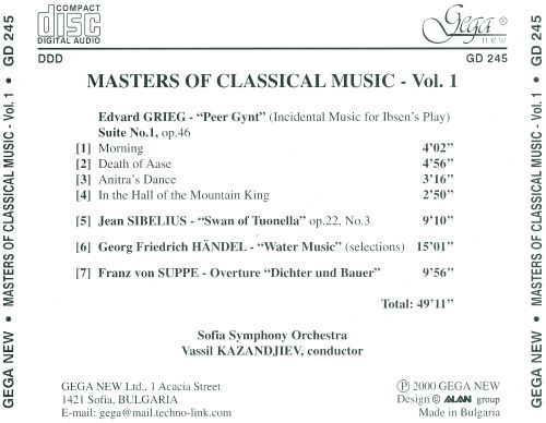 Masters of Classical Music, Vol. 1